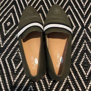 Dr Scholls Everett Band loafer leather olive sz 7